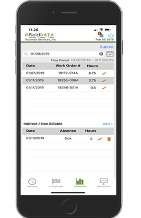 eFieldData Automated Project Mobile App