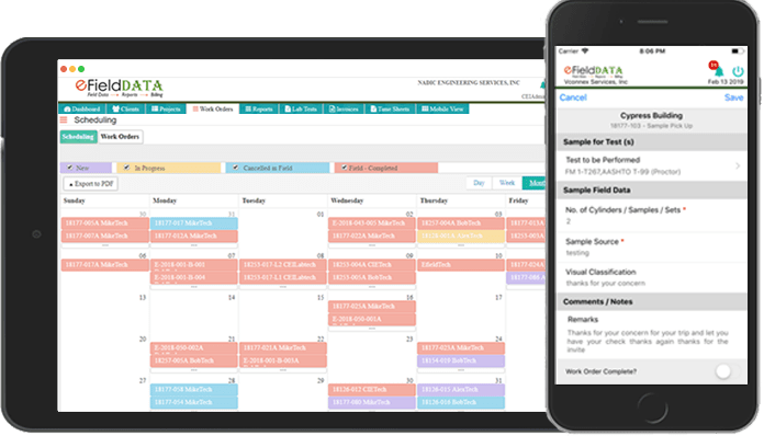 eFieldData Scheduling and Mobile App